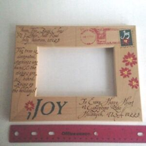 Picture-Frame-Front-Only-8-034-X-6-034-Christmas-Thick-Wood-Picture-3-5-034-X-5-5-034