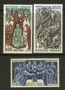 SERIE-TIMBRES-1537-1539-NEUF-XX-LUXE-GRANDS-NOMS-DE-L-039-HISTOIRE