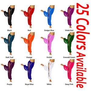 TMS-Chiffon-Slit-Harem-Yoga-Pant-Belly-Dance-Costume-Trouser-Aladdin-25-Colors