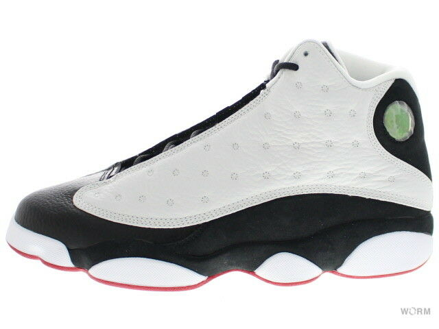 AIR JORDAN RETRO 13  HE GOT GAME  309259-104 white black-true red Size 10
