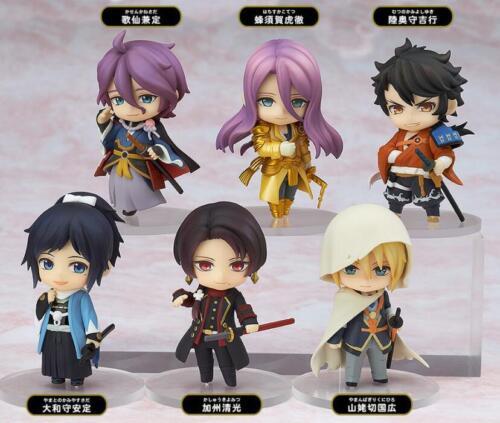 6pcs//Set Nendoroid Petit Touken Ranbu Online 1st Squad PVC Figure Toy Cute Gifts