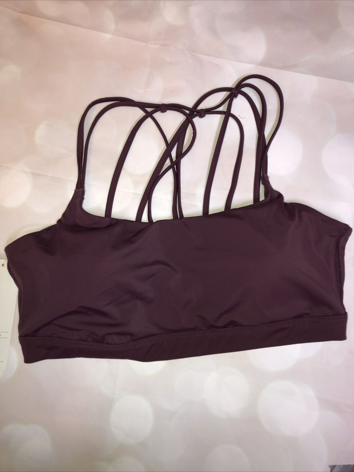 All In Motion XL NWT Sports Bra Activewear Low Support Strappy Mulberry Red