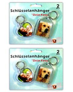 4x-Foto-Schluesselanhaenger-Fotorahmen-Herz-Schluesselanhaenger-Fotoanhaenger