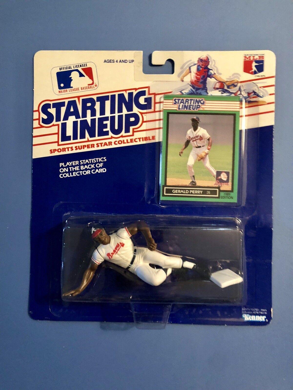 1989 Gerald PERRY estrellating Lineup Atlanta Braves 89 Kenner SLU cifra RARA difficili da trovare
