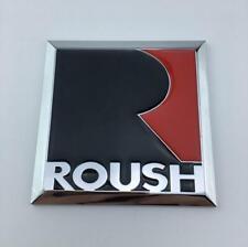 For Mustang Gt Roush Logo Emblem Racing Sport Badge Chrome Metal Sticker Decal Fits Focus