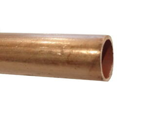 8mm Copper Pipe / Tube Sold By The Metre