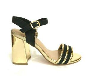 risparmi fantastici migliore vendita abbastanza carino Laura Biagiotti Women's Shoes Sandals Heel 5382 Black/Gold Summer ...