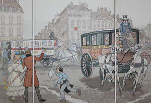 1900-La-Locomotion-estampe-aquarellee-Eugene-Courboin-Uzanne-35-5-x-26-cm-n-17