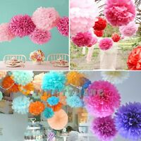 1pcs Wedding Party Hanging Tissue Paper Pom Pom Lantern Decoration Balls 4 Sizes