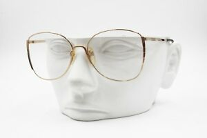Silhouette-6022-20-Vintage-NOS-women-eyeglasses-Golden-sating-and-lucite-NOS