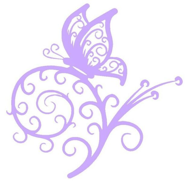 """Butterfly Vinyl Graphic Decal Car Window Sticker Funny Lilac 5"""""""