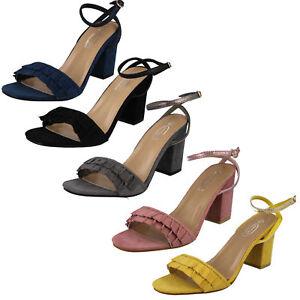 f1r0825 donna cinturino con fibbia alla caviglia BLOCCO tacco alto da festa