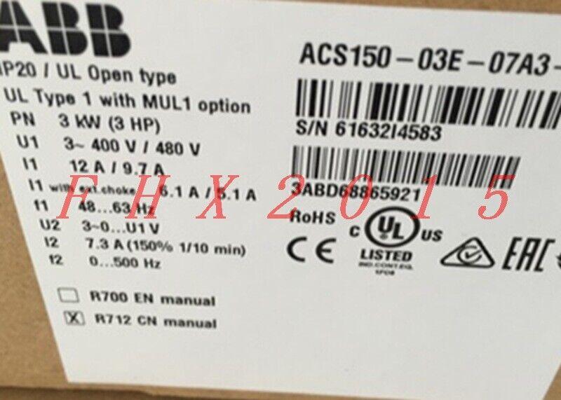 ABB PLC Processors 1PCS NEW IN BOX ABB Inverter ACS150-03E-07A3-4 ...