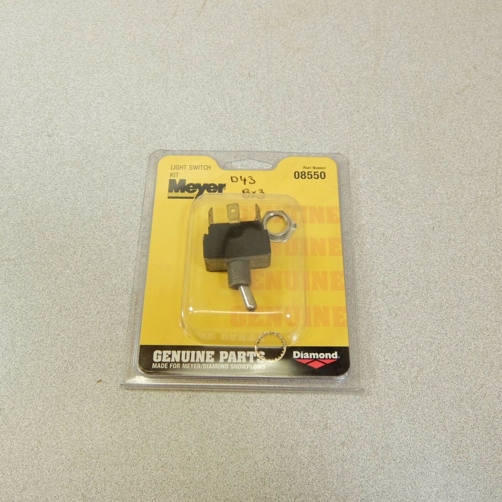 Meyer Snow Plow Headlight Switch Part # 08550