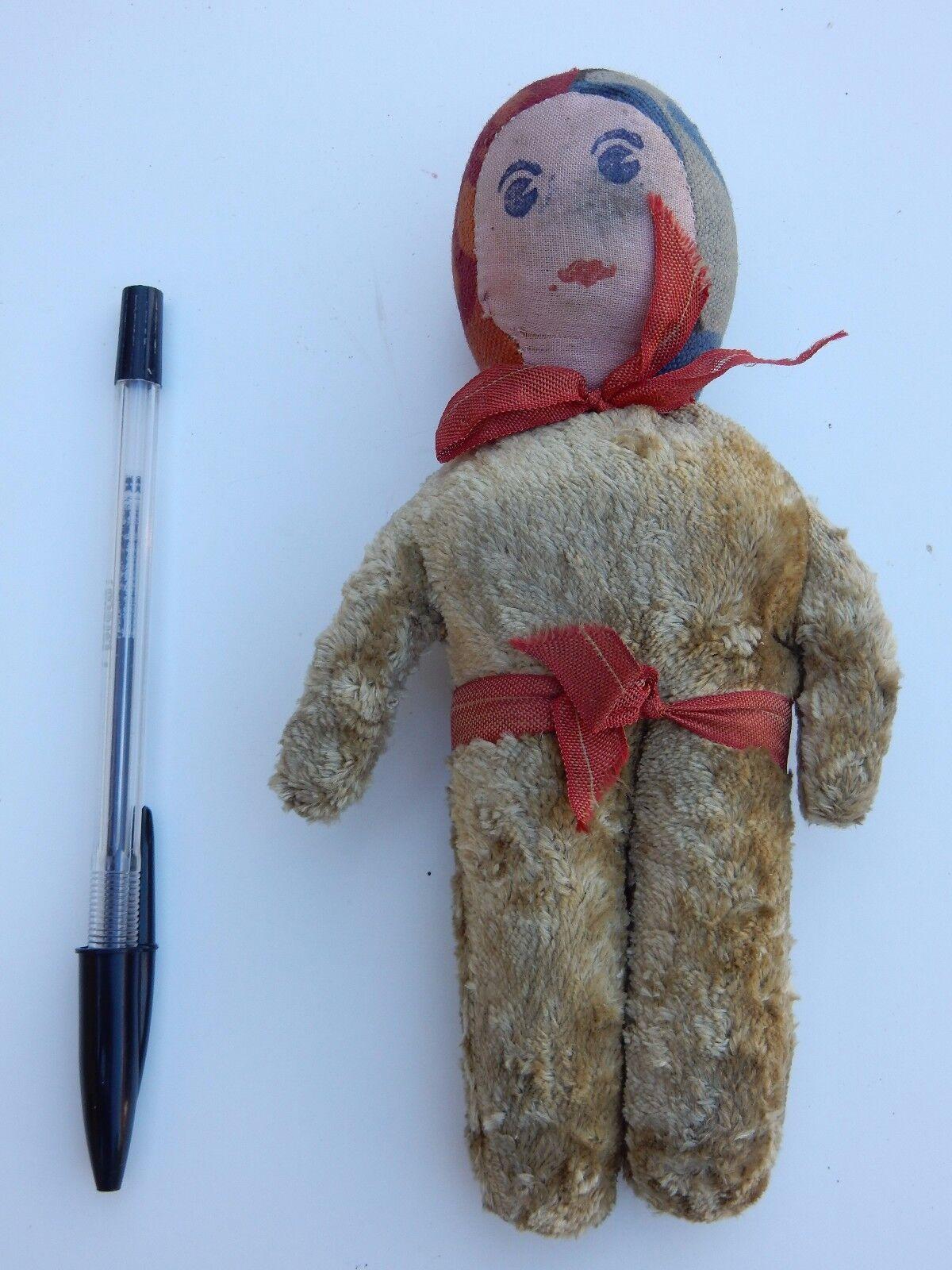 NAIVE art deco bambola peluche probabilmente dell'Europa orientale alto 17 cm