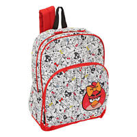 Angry Birds Backpack Red Girls School Book Bag 16 Female Video Game App