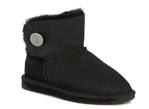 Denman Mini Bottes Noir Chaussures Pelo W11255 D'Hiver Femme Emu Noir Montone wB8zq8