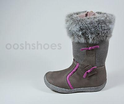 Babybotte Girls Anastasia Taupe Nubuck Leather Boots UK 7 EU 24 RRP £69.99