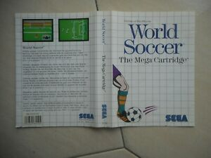 Bien Cover Only X Empty Box Genuine Original Vintage World Soccer Sega Master System