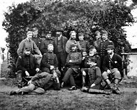 8x10 Civil War Photo: Federal General Randolph Marcy & Officers In Camp