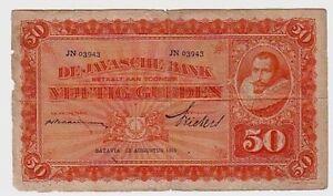 Indie-Olandesi-Netherland-Indie-50-gulden-13-08-1929-MB-Poor-Pick-72C-Lotto-369