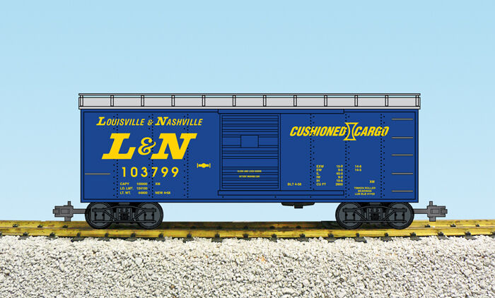 USA Trains G Scale 19097 L & N Box Car Assorted Rd  's NEW RELEASE