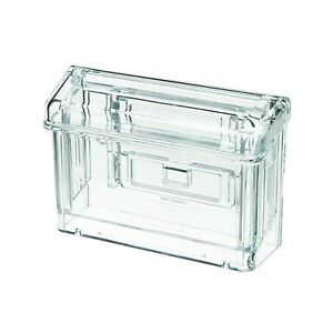 buy online db4e7 a43c9 Details about Business Card Display Case Real Estate Holder Car Mount  Window Agent Plastic UV