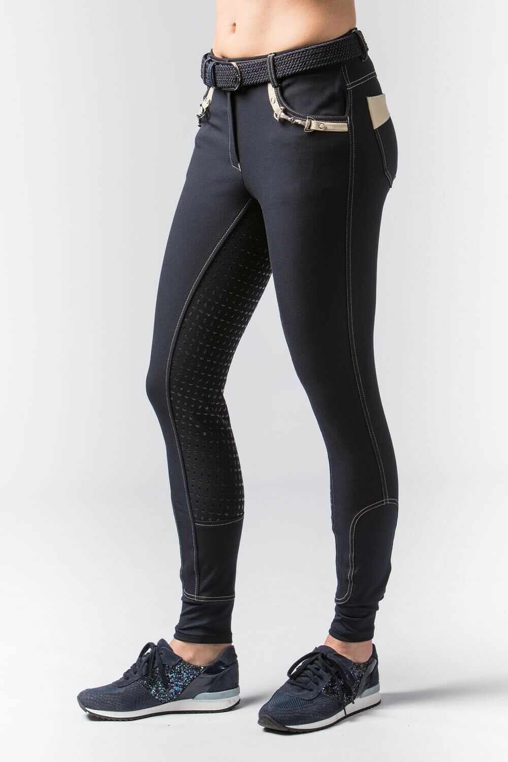 Harry's Horse reithose  Vegas  marine avec grip vollbesatz + flexlegs