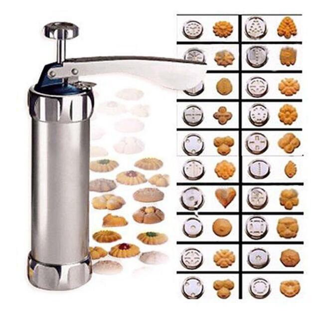 1 Set Cookie Press Biscuit Making Shaper Pump Press Machine Cake Cutter Decorate