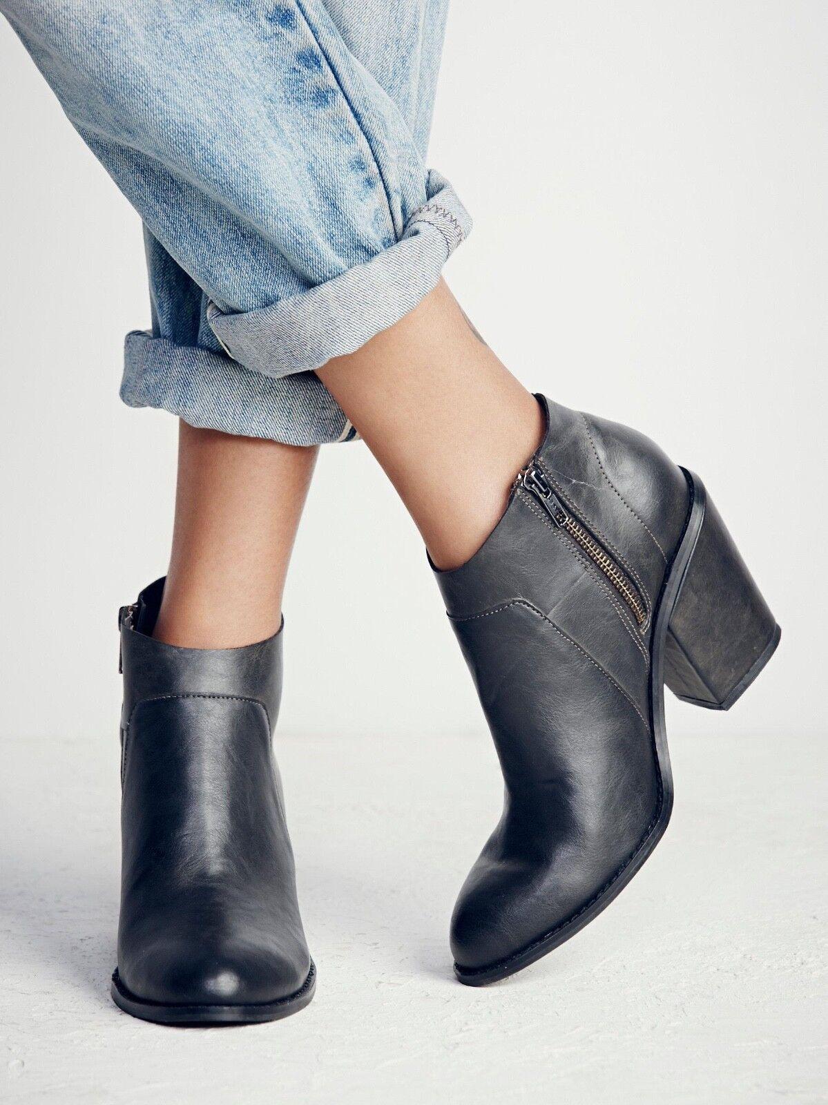 Nuevas botas de tacón Free People Addison Talla Talla Talla 9 precio minorista sugerido por el fabricante   128 Negro  sin mínimo
