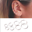 3Pairs-Women-Punk-Stainless-Steel-Ear-Hoop-Circle-Earrings-Jewelry-Gift-Fashion thumbnail 1