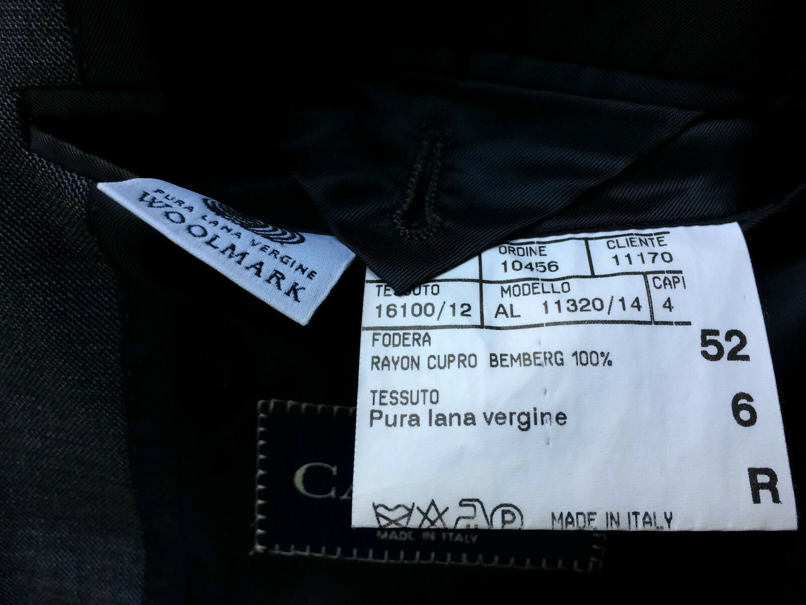 Canali; uomo Giacca Super 120's LANA VERGINE GRIGIO GRIGIO VERGINE TG. 52 R  NUOVO 84503f