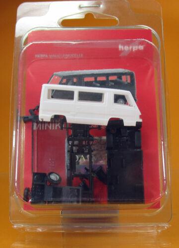 Herpa 012317 004 MiniKit Mercedes Benz 100 D Bus weiß white Scale 1 87 NEU OVP