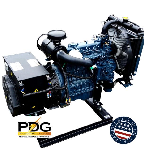 Kubota 1800 Rpm Diesel Generator 12kw For Sale Online Ebay