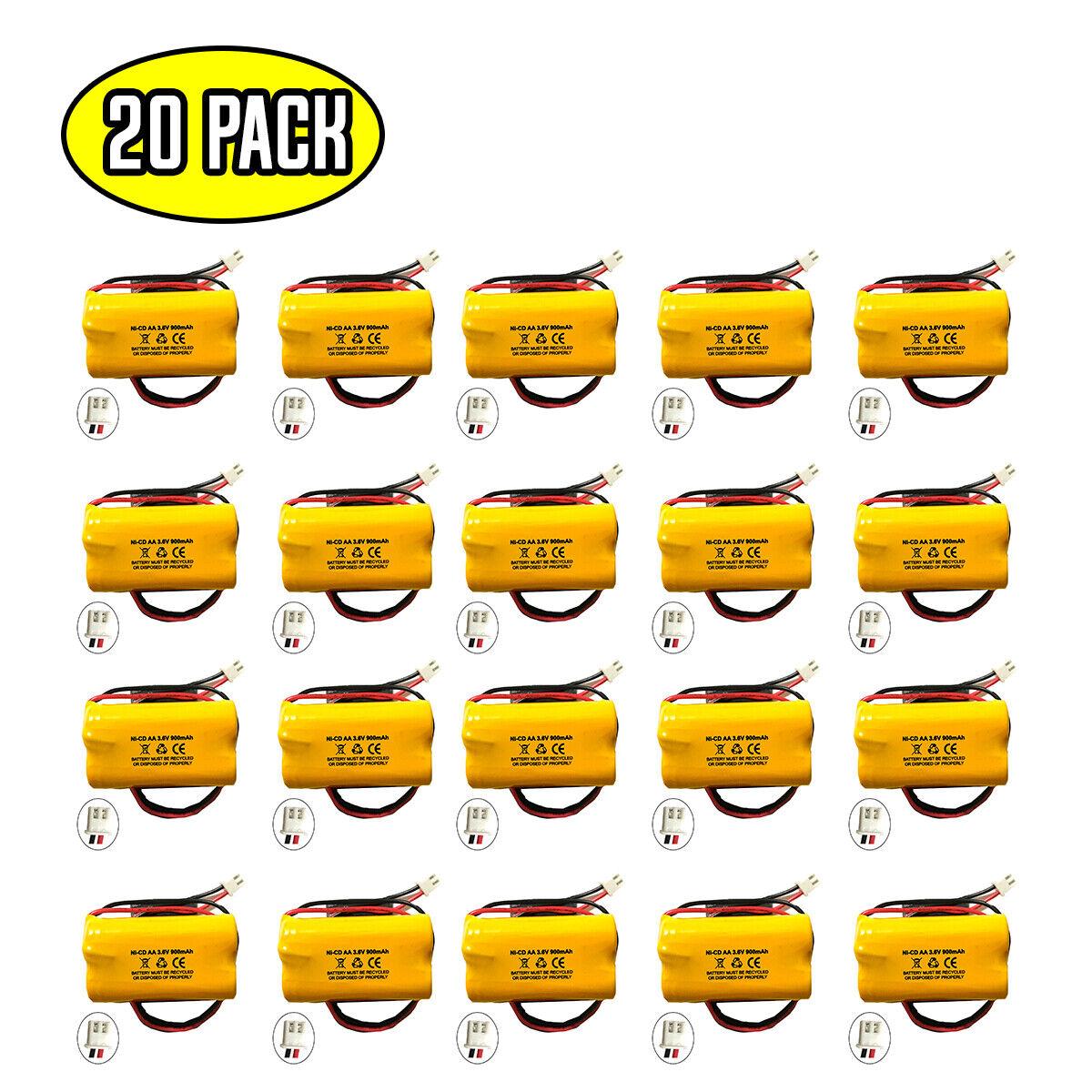 (20 pack) 3.6v 900mAh Ni-CD Battery for Emergency / Exit Light