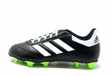 Adidas Kids Goletto VI J Firm Ground Soccer Cleats Black Green Youth Size 4.5 US