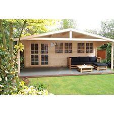 Gartenhaus Blockhaus Gerätehaus Holz 600x400, 40 mm, mit ISO Verglasung, 403911