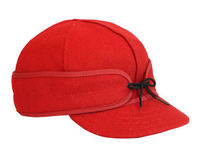 Original Men's Stormy Kromer Wool Hat Cap in Solid Red Made in the USA