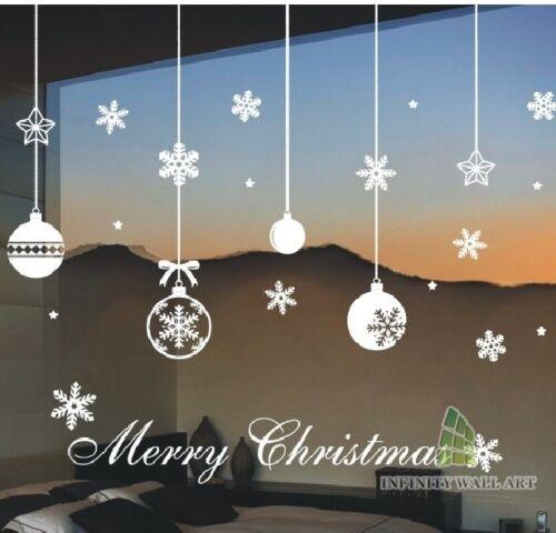 .D518 Christmas Decoration Vinyl Wall Art Sticker Christmas Glass Wall Decals