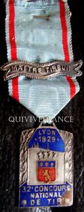 DEC3499-MEDAILLE-MAITRE-TIREUR-CONCOURS-NATIONAL-LYON-1929-MEDAL-ORDER
