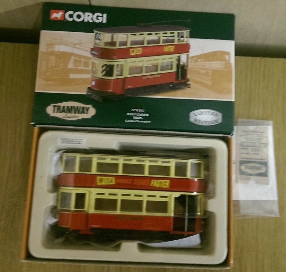 Corgi CC25202 Tramway Classics Fully Closed Tram London Ltd Ed. 0001 of 5900