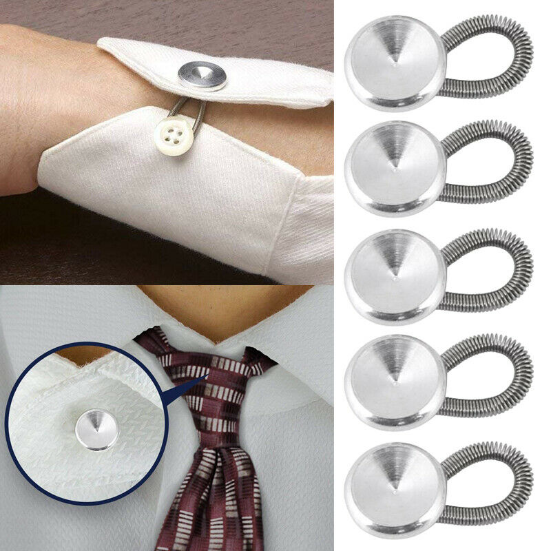 6Pcs/Set Clothing Expander Coat Collars Metal Button Accessories Wear Trouser