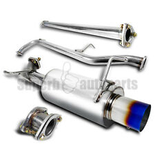 For 1998-2002 Honda Accord 4Cyl Burnt Tip Catback Exhaust Muffler
