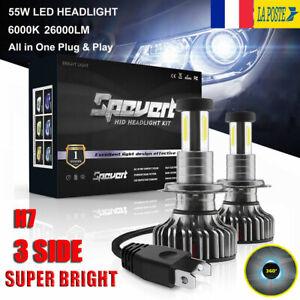 360-110W-H7-Voiture-LED-Ampoule-Phare-Feux-Lampe-Kit-30000LM-6000K-Xenon-Blanc
