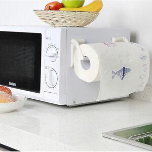 Plastic Magnetic Kitchen Bathroom Paper Towel Roll Rack Holder Hold Dispenser