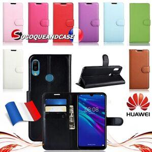 Etui-coque-housse-Cuir-PU-Leather-case-cover-skin-pour-Huawei-Y6-Y7-ou-Y9-2019