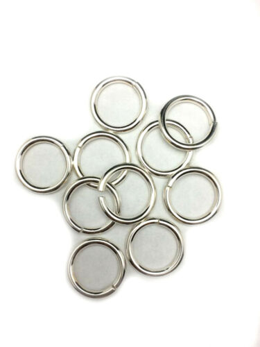 925 Sterling Silver Open Jump Ring Round 14 Gauge Inside dimension 3.5-13.0 mm