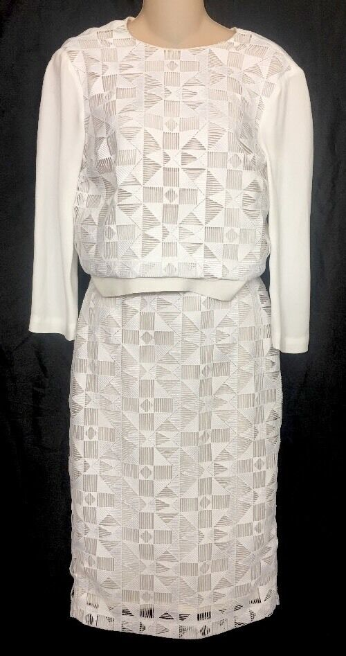 ALC Skirt And Top White Design Long sleeve Size 0