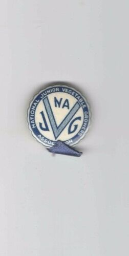 Vintage pin National Junior VEGETABLE Growers Association FARMING Produce FARM V