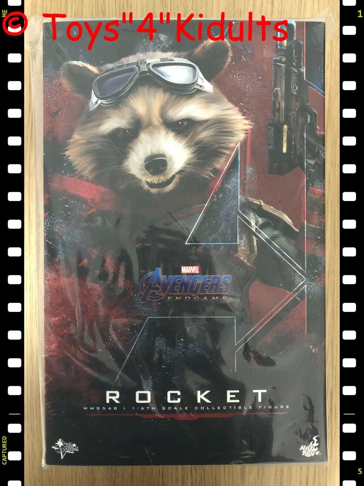 🔥 Hot Toys MMS 548 Avengers Endgame Rocket 1/6 12 inch Action Figure NEW on eBay thumbnail
